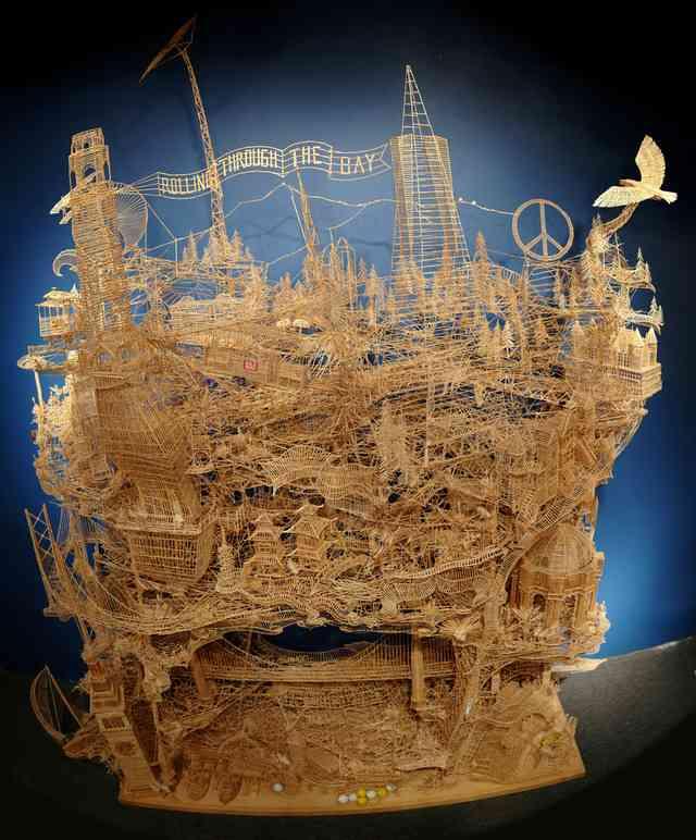 【凄すぎワロタ】制作35年、10万本の爪楊枝で作られた超絶 Scott Weaver   DDN JAPAN