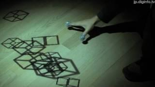 感覚をだますメディアアート「Shadow touch!!」 : DigInfo - YouTube