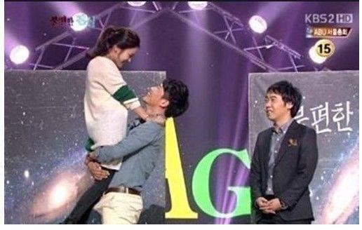 【下ネタ注意】韓国芸人キム・ギリ、番組で女性タレント抱きしめ下半身反応www