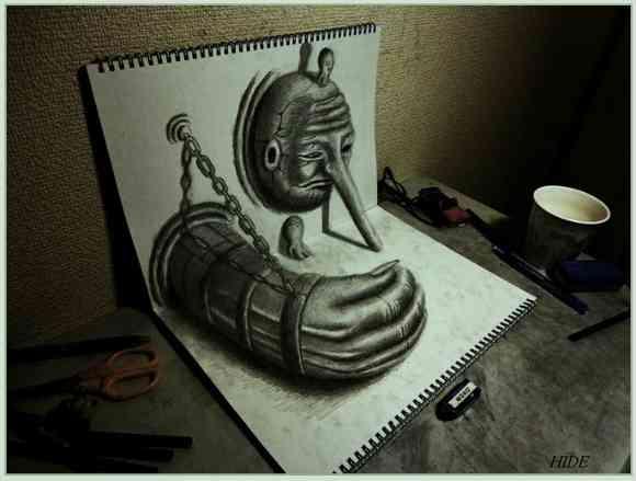 意外な物を使って描かれたアート