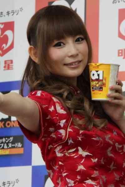 中川翔子「もうレベル27でございます。『エア出産』は何度もしてます」…明星の新カップ麺「Quick1」CM発表イベント