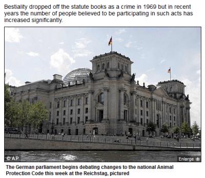 【海外:ドイツ】動物との性交禁止の法律が復活か!?(日刊テラフォー) - エキサイトニュース