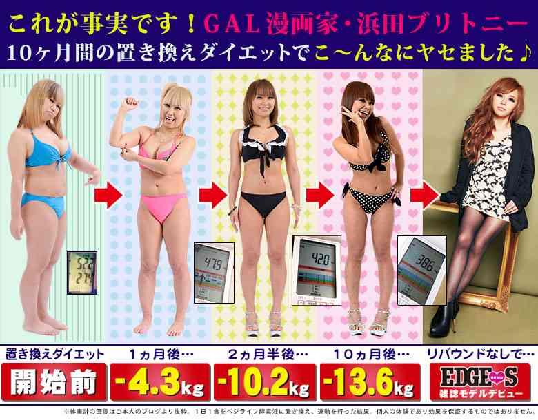 浜田ブリトニー、35kgに減量目指し告白宣言。22股を公言するアイドル谷一歩は35股を狙う