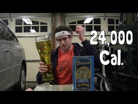 Idiot Consumes 24,000 Calories of Fat in 3min - YouTube