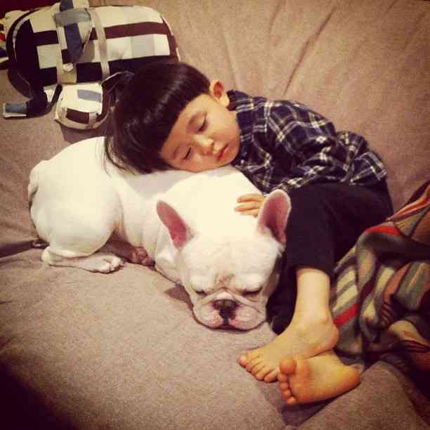 Aya Sakai Instagram pictures of her son Tasuku and his Bulldog Muu | Trendland: Fashion Blog & Trend Magazine