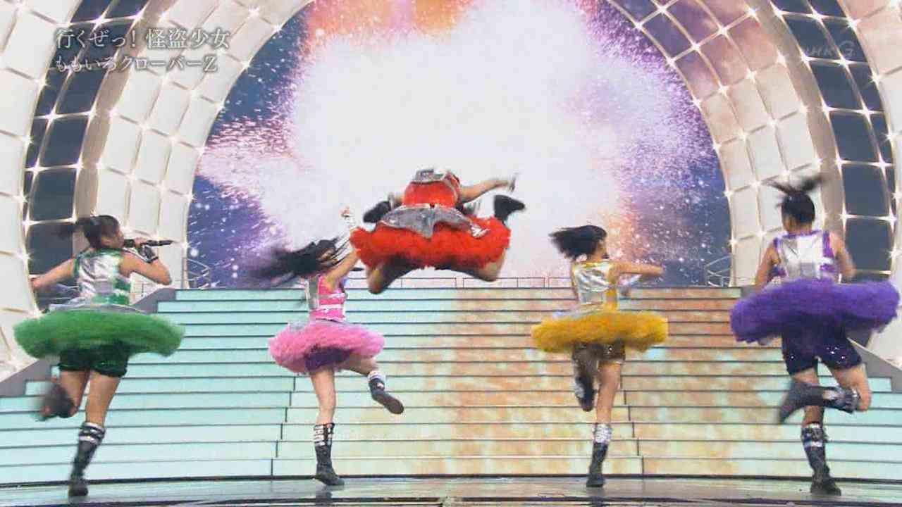 【紅白】ももいろクローバーZ 百田夏菜子のジャンプすげ~ww