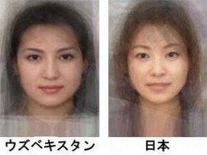 世界人種別女性の平均的な顔