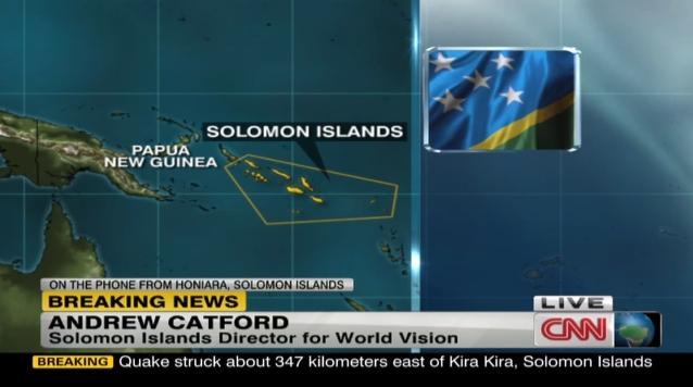 CNN.co.jp : ソロモン諸島沖でM8.0の地震、津波で5人死亡