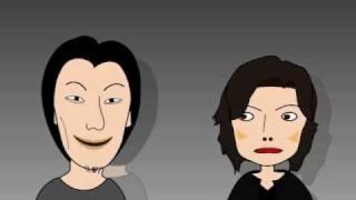 勝間vsひろゆきの対談を自作アニメで作ってみた 1/3 - YouTube