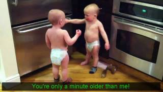 Talking Twin Babies [Subtitles/Translation] [HD] - YouTube