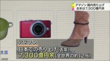 Amazon.co.jp、国内での売上7300億円突破 楽天を3000億円上回る
