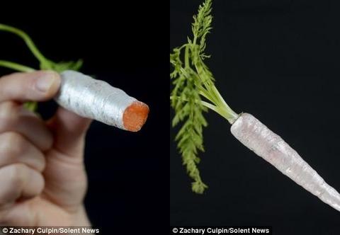 生野菜もソーセージもカラフルに!!食べても問題がない世界初の食用スプレーが開発される!!