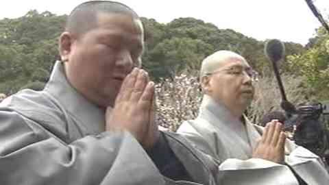 韓国僧侶、長崎県対馬の観音寺住職らに会えず