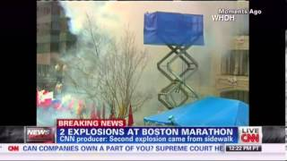 Finish Line Boston Marathon explosion - YouTube