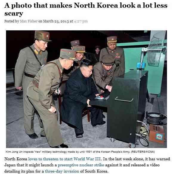 米ワシントン・ポスト紙が掲載した「この写真を見れば北朝鮮の威嚇の脅威が激減する」という記事の写真が本当に怖くないw - ABC振興会★ニュースはみだし課