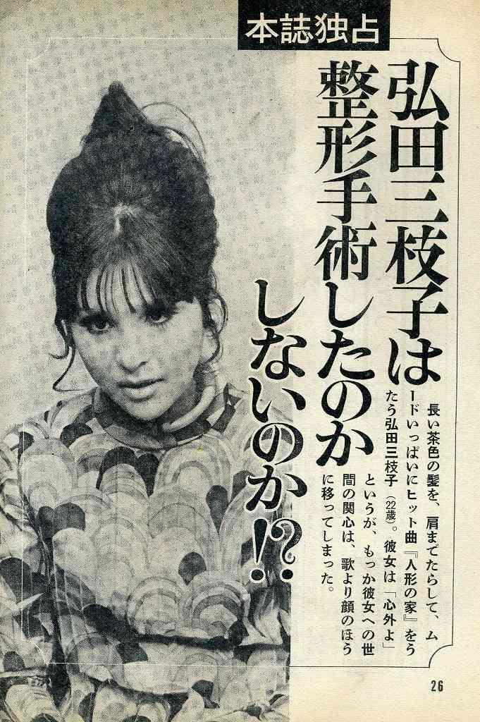 整形疑惑のある昭和の女性有名人たち
