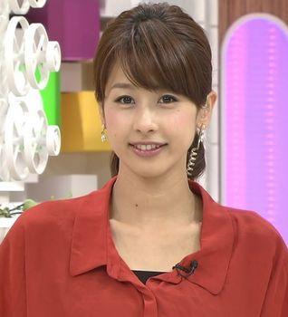 フジテレビ・加藤綾子アナ(カトパン)が黒髪に。可愛いと話題に。