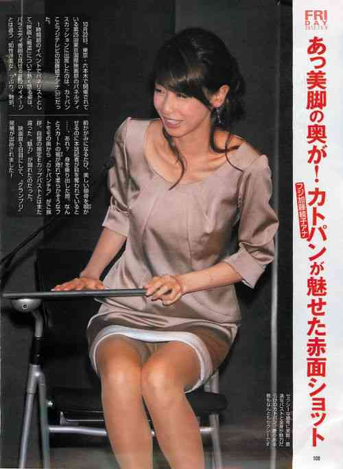カトパンこと加藤綾子アナのパンツが床に反射してパンチラ!「ホンマでっか!?TV」で…