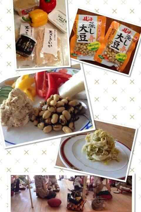 園山真希絵さんがオイシックスのさきイカやフジッコの大豆等の既製品を混ぜるだけの簡単レシピを8000円で伝授