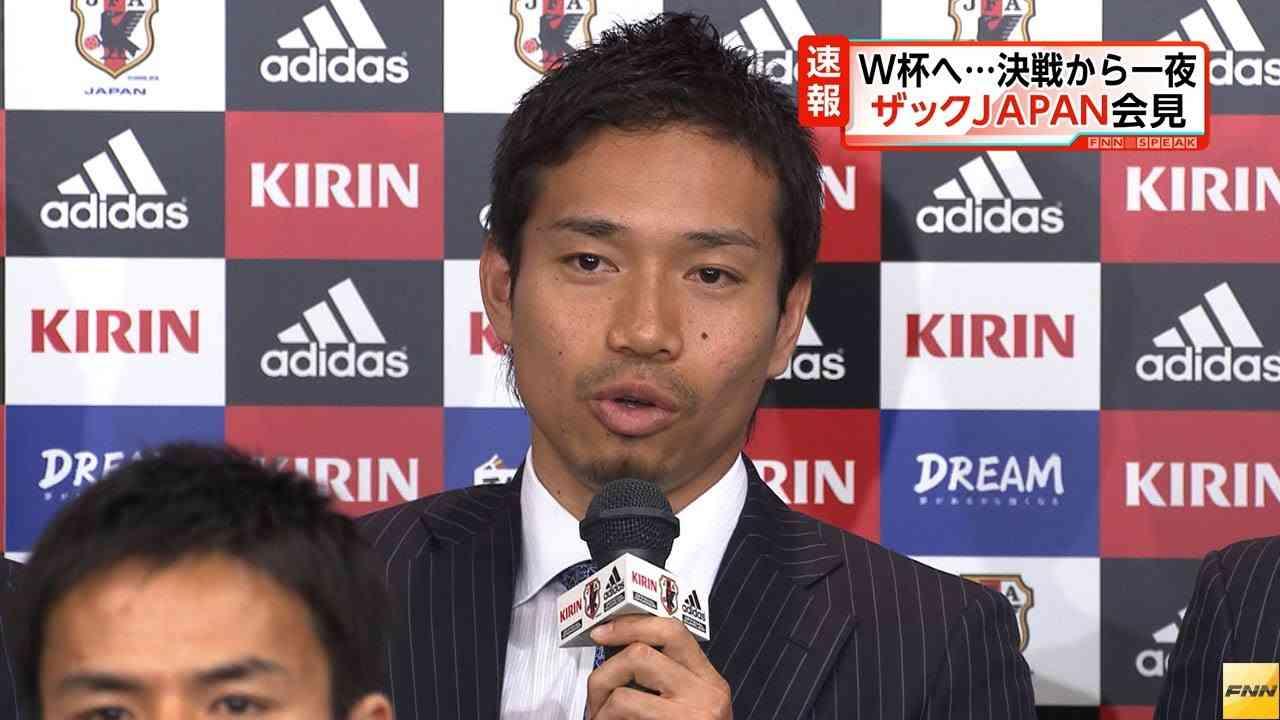 W杯出場決定 長友佑都選手「これから厳しい戦いが始まる」(13/06/05) - YouTube