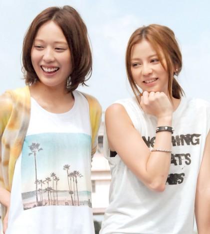 新ドラマ『SUMMER NUDE』記者発表会での香里奈と戸田恵梨香をご覧ください