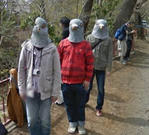 Googleストリートビューに謎のハト人間集団 その正体は…