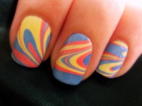 Water Marble Nail Art - YouTube