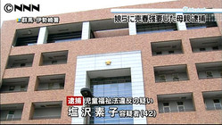 娘とその友人に売春させる、42歳女逮捕(日テレNEWS24) - 国内 - livedoor ニュース