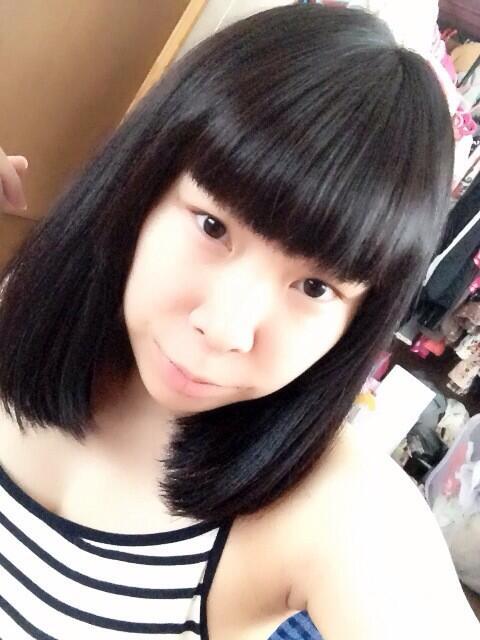 神崎かおり(19)がパッツン前髪で黒髪に…