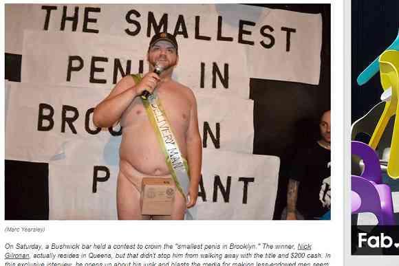 【下ネタ注意】「もっとも小さいアソコを持つ男コンテスト」優勝者のポジティブさが人々に勇気と感動を与え話題に