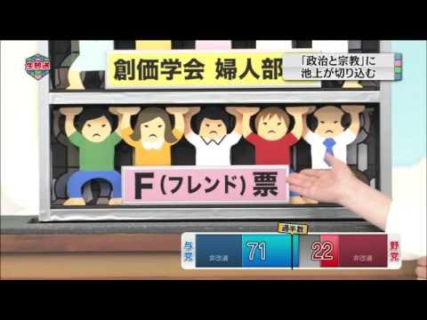 池上彰「公明党と創価学会の関係、政教分離に違反しないのか」 - YouTube