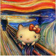 キティさん、今度は「ムンクの叫び」とコラボ…