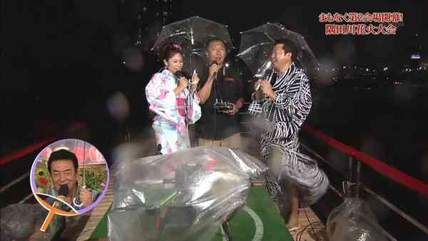 隅田川花火大会の中継が豪雨で悲惨すぎる事態に