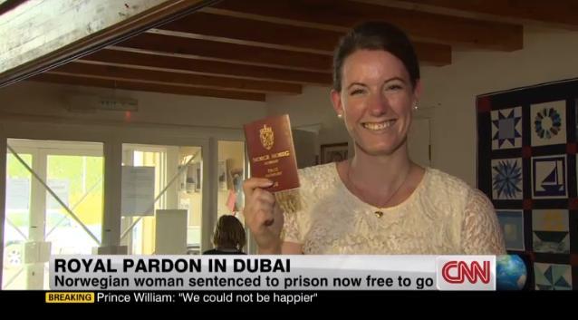 アラブ首長国連邦で強姦され有罪判決を受けたノルウェー人女性が一転して恩赦... アラブ首長国連邦