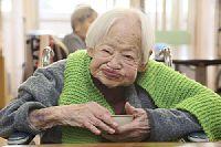 [顔]女性世界最高齢に認定された 大川ミサヲさん 115歳