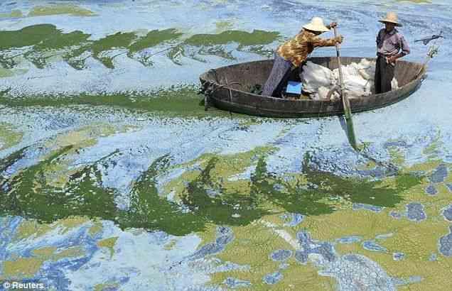 中国の汚染した川の画像がもはや絵画レベルwwww
