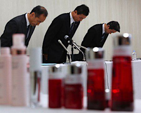 カネボウ化粧品、自主回収=美白製品で肌にまだら、25万人使用