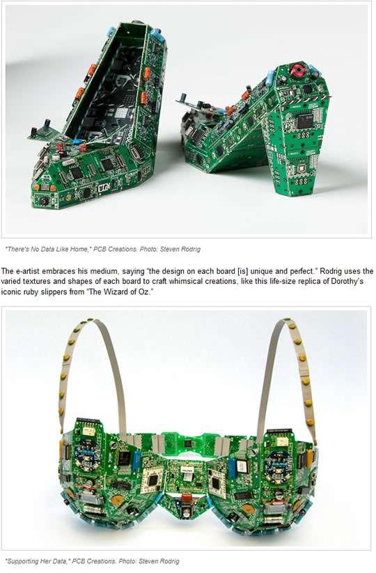 電子部品 でできた ハイヒール – あいだ みさのブログ