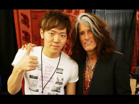 エアロスミスのJoePerryと!8月16日大阪で待ってます! - YouTube