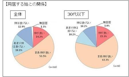 「帰省が楽しみ」な姑87%、「帰省が憂鬱」な嫁46% - 嫁・姑の帰省事情