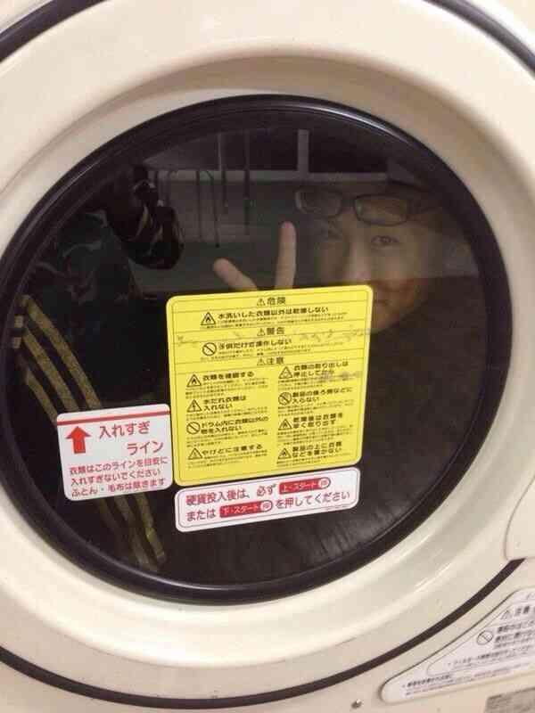 【バカッター】今度はコインランドリーの洗濯機に入る馬鹿が発生