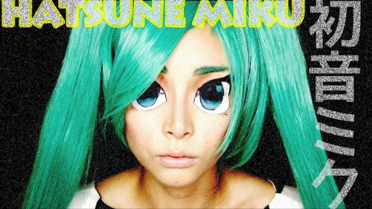 Real Anime Eyes : Hatsune Miku Makeup - YouTube