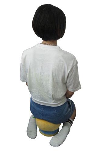 ふなっしーが座椅子となって10月発売!みんなのお尻を優しく守るなっしー!