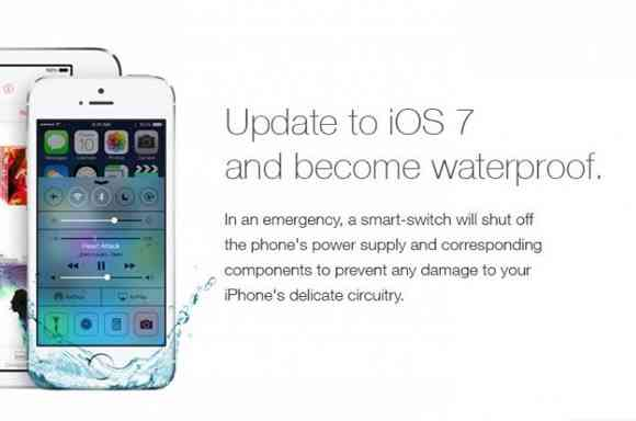 「iOS7にアップデートすると防水になる」というデタラメに騙される人続出!