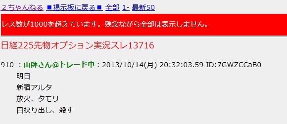 【犯罪速報】タモリさんに対する殺害予告が書き込みされる!「明日 新宿アルタ 放火、タモリ目抉り出し、殺す」 | ロケットニュース24