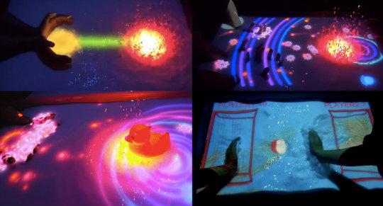 未来のお風呂ヤバイ お風呂の水面をタッチスクリーンにしちゃう「AquaTop Display」が楽しすぎる!