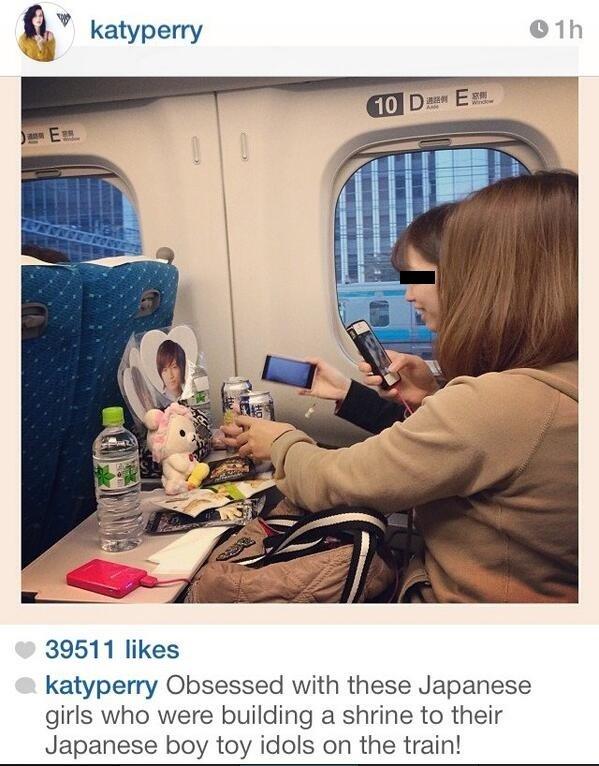 世界の歌姫ケイティ・ペリーがジャニヲタを世界に晒してるww