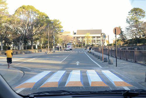 ビックリ「浮き上がる」横断歩道、思わず減速 : 社会 : YOMIURI ONLINE(読売新聞)