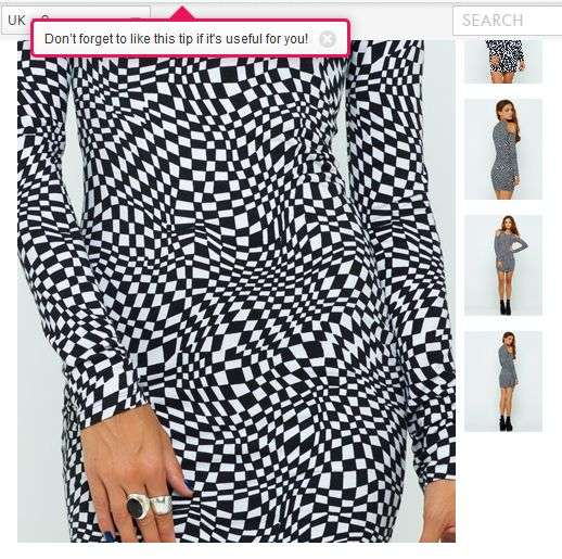 錯視で胸が大きく見える画期的な服がネットで話題にw