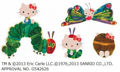 はらぺこあおむし×キティ実現、幼虫ボディやさなぎのデザインも。 | Narinari.com